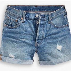 Levi's 501 long shorts 28